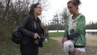 Casting X et sexe à la campagne avec une femme libertine